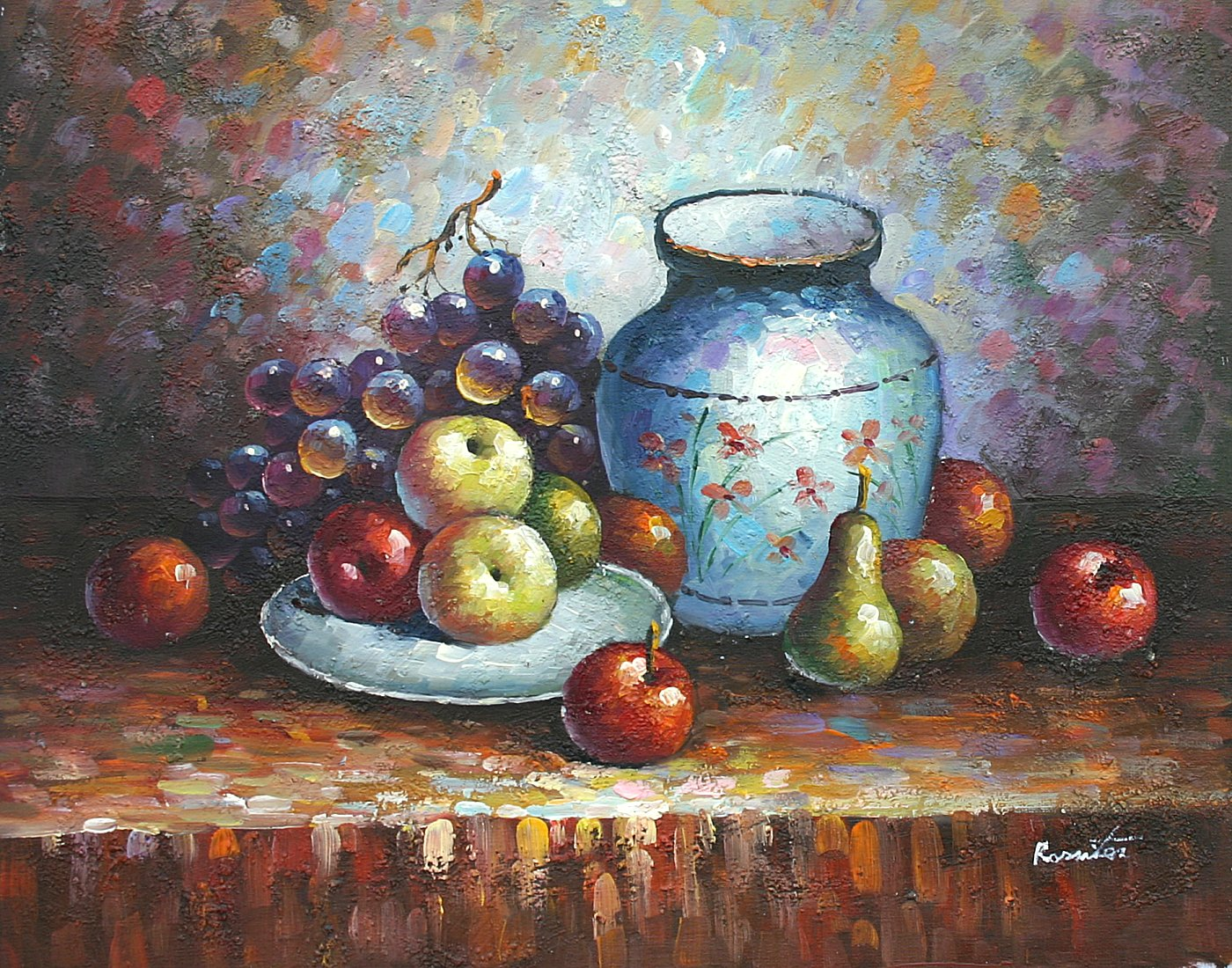 Details About 16 X20 Oil Painting On Canvas Fruit Still Life Genuine Hand Painted